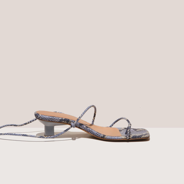 LoQ - Roma Sandals - Luna Snake, side view, available at LCD.