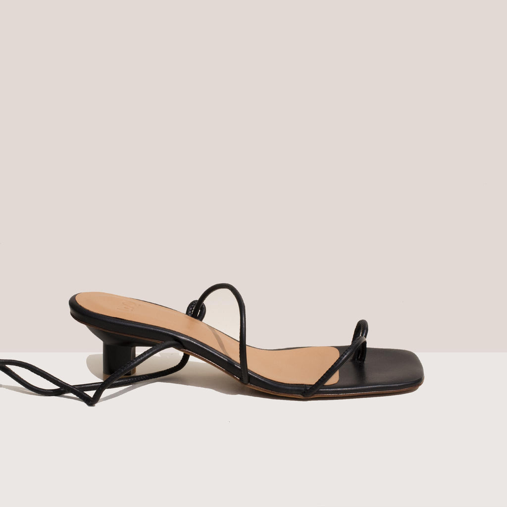 Loq - Roma Sandals - Black, side view.