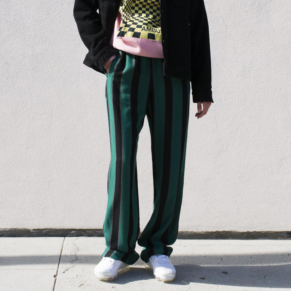 Wales Bonner - Roots Pyjama Trousers, front view.