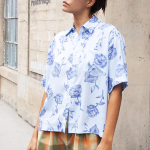 Aries - Rose Hawaiian Shirt, front view, available at LCD.
