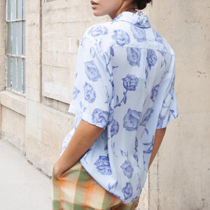 Aries - Rose Hawaiian Shirt, rear view, available at LCD.