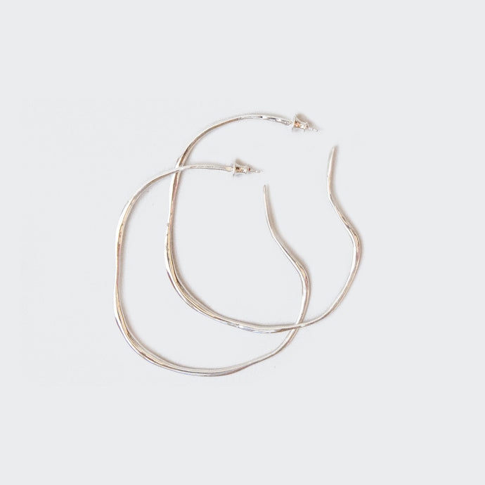 Faris - Large Vero Hoops - Sterling Silver, available at LCD