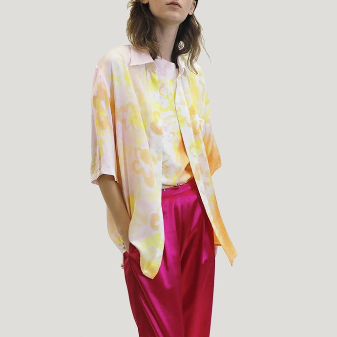 Collina Strada - Sunny Button Up - Sunset Rose, front view, available at LCD.