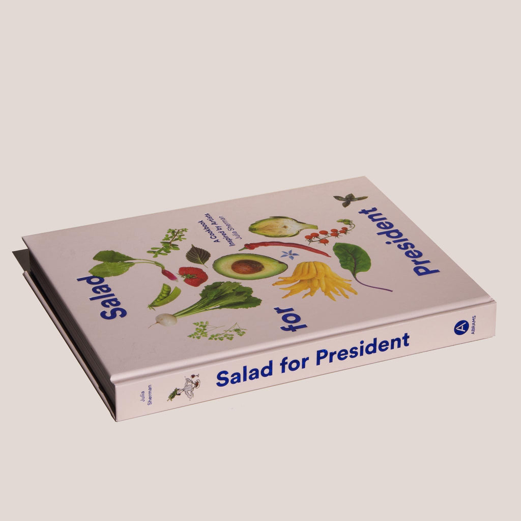 Salad for President by Julia Sherman, angled cover, available at LCD.