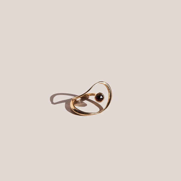 Faris - Saturn Ring - Bronze & Garnet, available at LCD.
