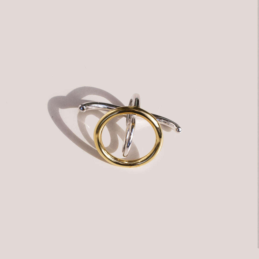 Charlotte Chesnais - Saturn Ring - Yellow Vermeil and Sterling Silver.
