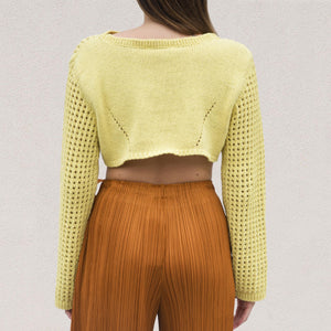 Nanushka - Saylor Cropped Knit, back view, available at LCD.