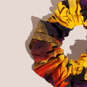 Ganni - Scrunchie - Lemon Silk, available at LCD.