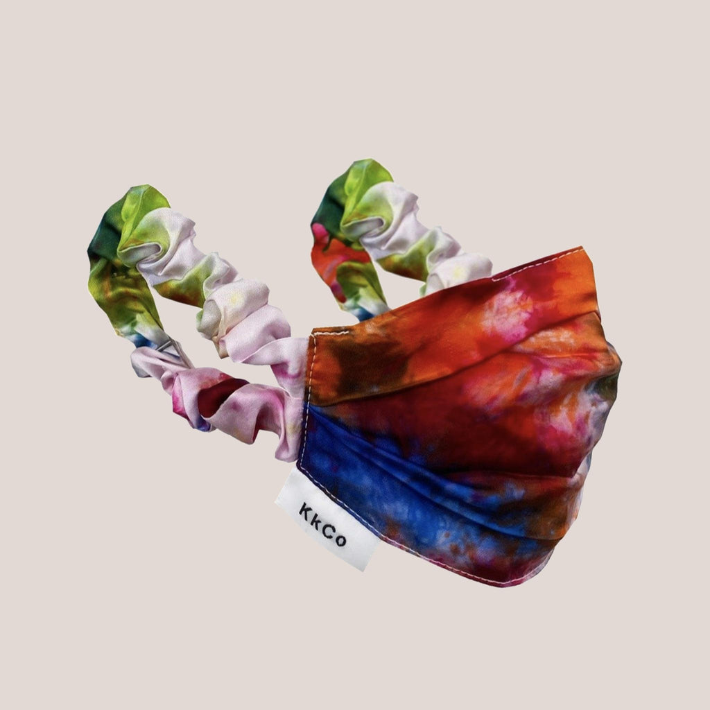 KKCO - Scrunchie Face Mask - Tie Dye, available at LCD.