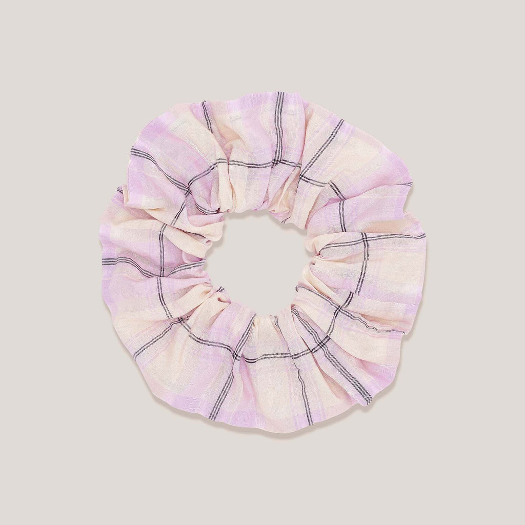 Ganni, Scrunchie - Orchid Bloom, available at LCD.