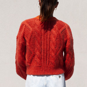 Aalto - Sculptured Knit Cardigan, back view, available at LCD.