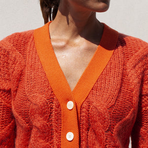 Aalto - Sculptured Knit Cardigan, front view, available at LCD.