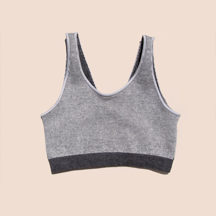 Baserange - Fine Seamless Scoop Top, front view, available at LCD.