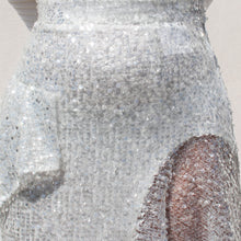 Load image into Gallery viewer, Walk of Shame - Sequins Skirt, detail view, available at LCD.