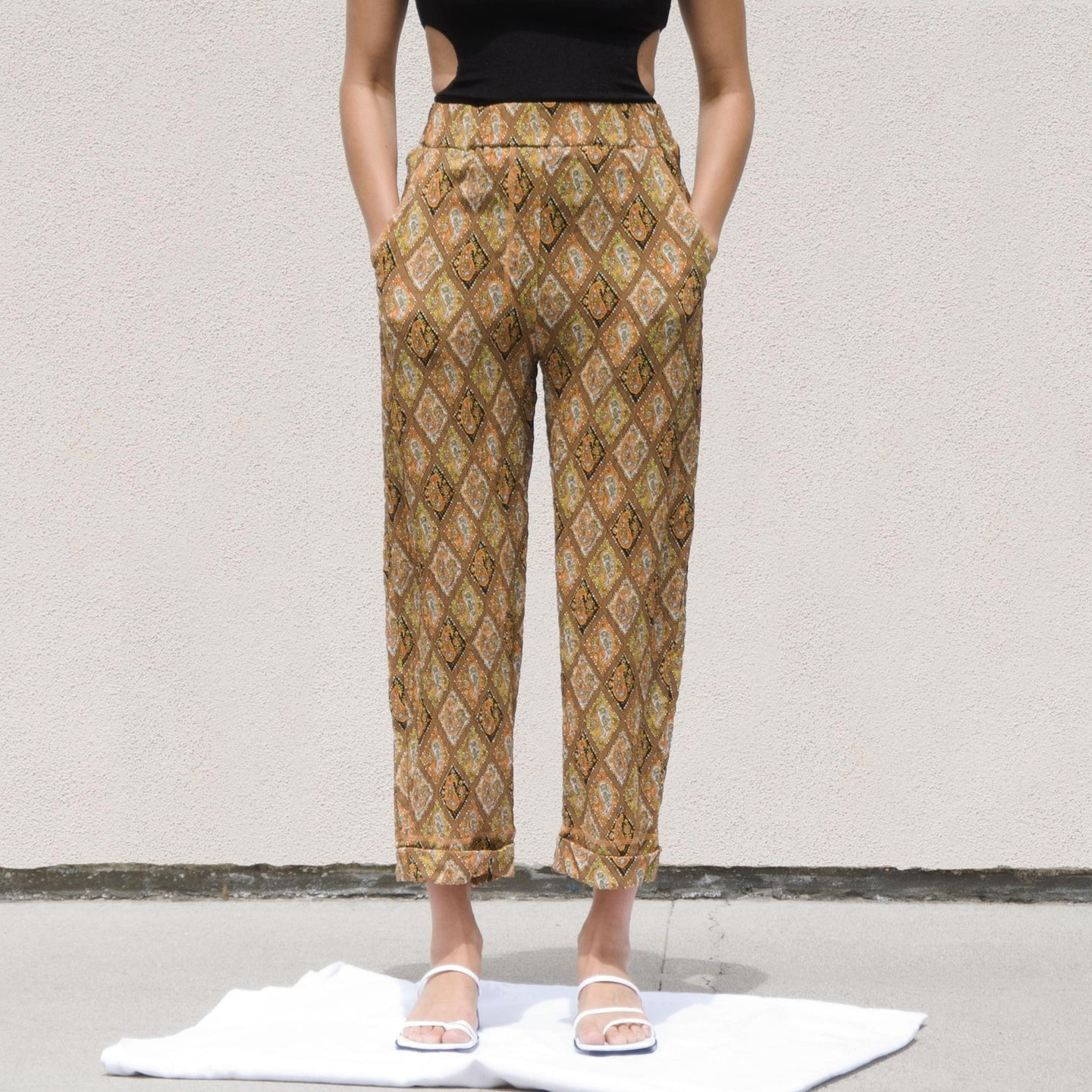 Nanushka - Selah Pants, front view, available at LCD.