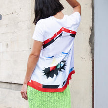 Load image into Gallery viewer, Delada - Silk Scarf Top, rear view, available at LCD.