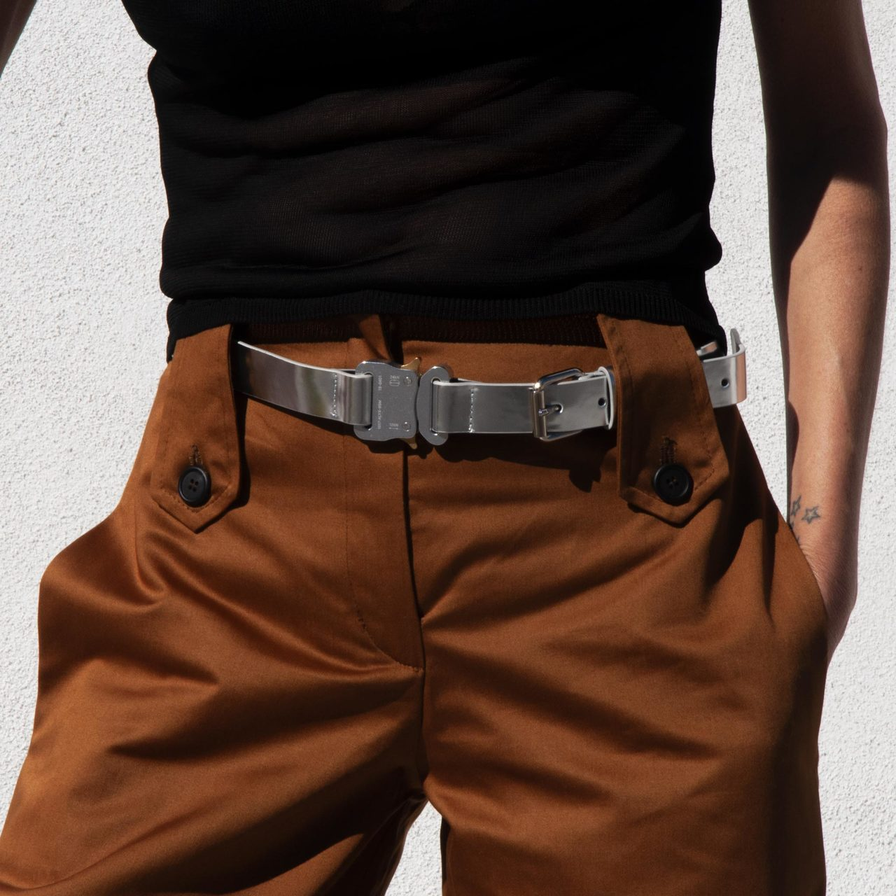 Alyx - Medium Roller Coaster Belt - Silver, available at LCD