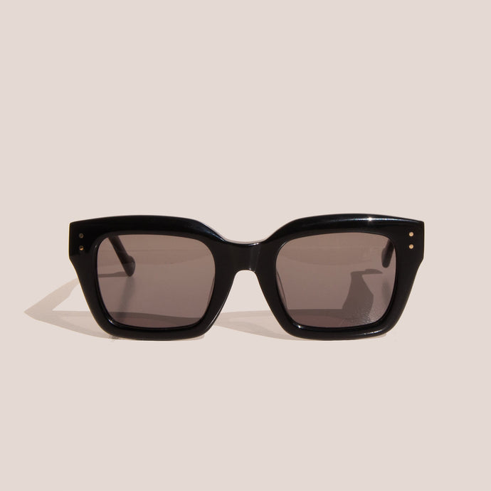 Le Specs - Skeptic Sunglasses - Black, front view, available at LCD.