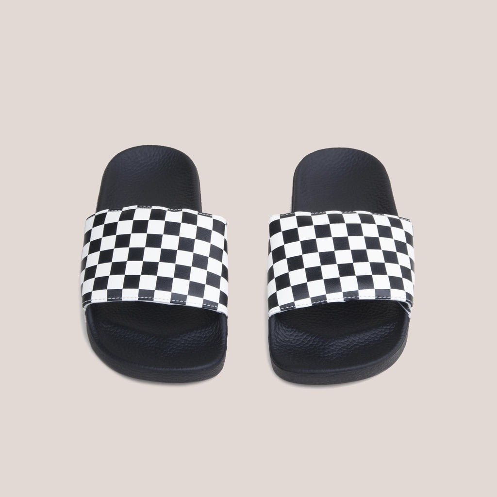Vans - Slide-On - Checkerboard, front view, available at LCD.