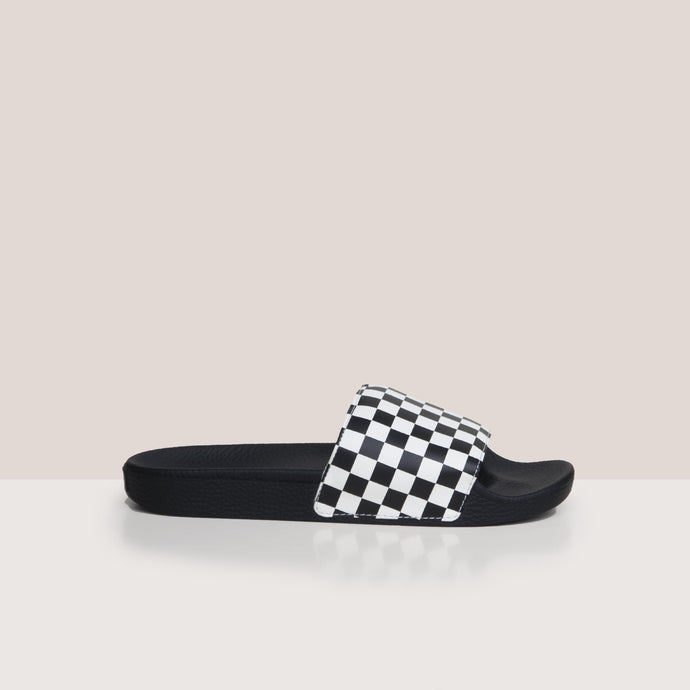 Vans - Slide-On - Checkerboard, side view, available at LCD.