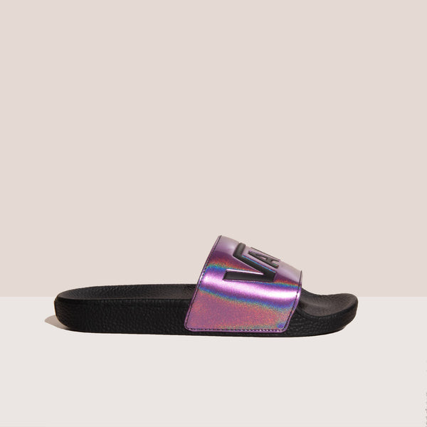 Vans - Slide-On - Iridescent, side view, available at LCD.