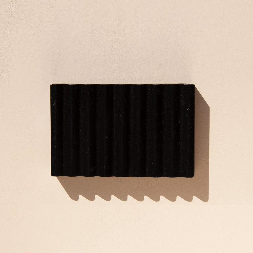 Binu Binu - Soap Dish - Nero Marble, available at LCD