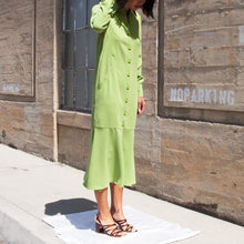 Load image into Gallery viewer, Tibi - Spring Maxi Shirtdress, angled view, available at LCD.