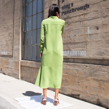 Load image into Gallery viewer, Tibi - Spring Maxi Shirtdress, rear view, available at LCD.