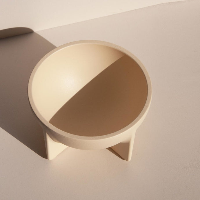 Fort Standard - Small Standing Bowl - Cream, available at LCD
