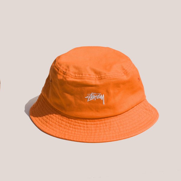 Stussy -  Stock Bucket Hat in Coral.
