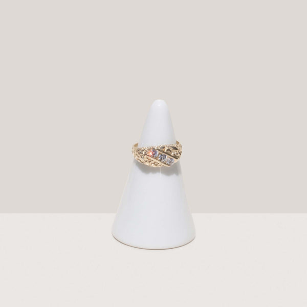 Dela Gold, Stone Nugget Ring, available at LCD.