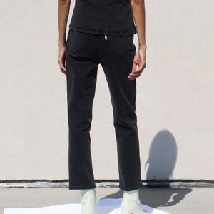 Aalto - Stretch Crop Denim Pant, back view, available at LCD.