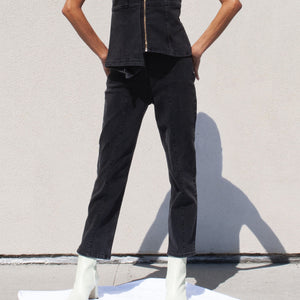 Aalto - Stretch Crop Denim Pant, front view, available at LCD.