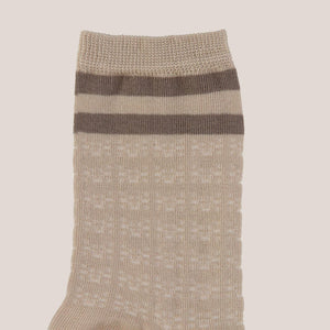 1017 Alyx 9SM - Striped Socks - Beige, detailed view, available at LCD.