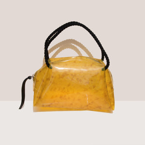 Maryam Nassir Zadeh - Sun Purse - Golden Marble, front view, available at LCD.