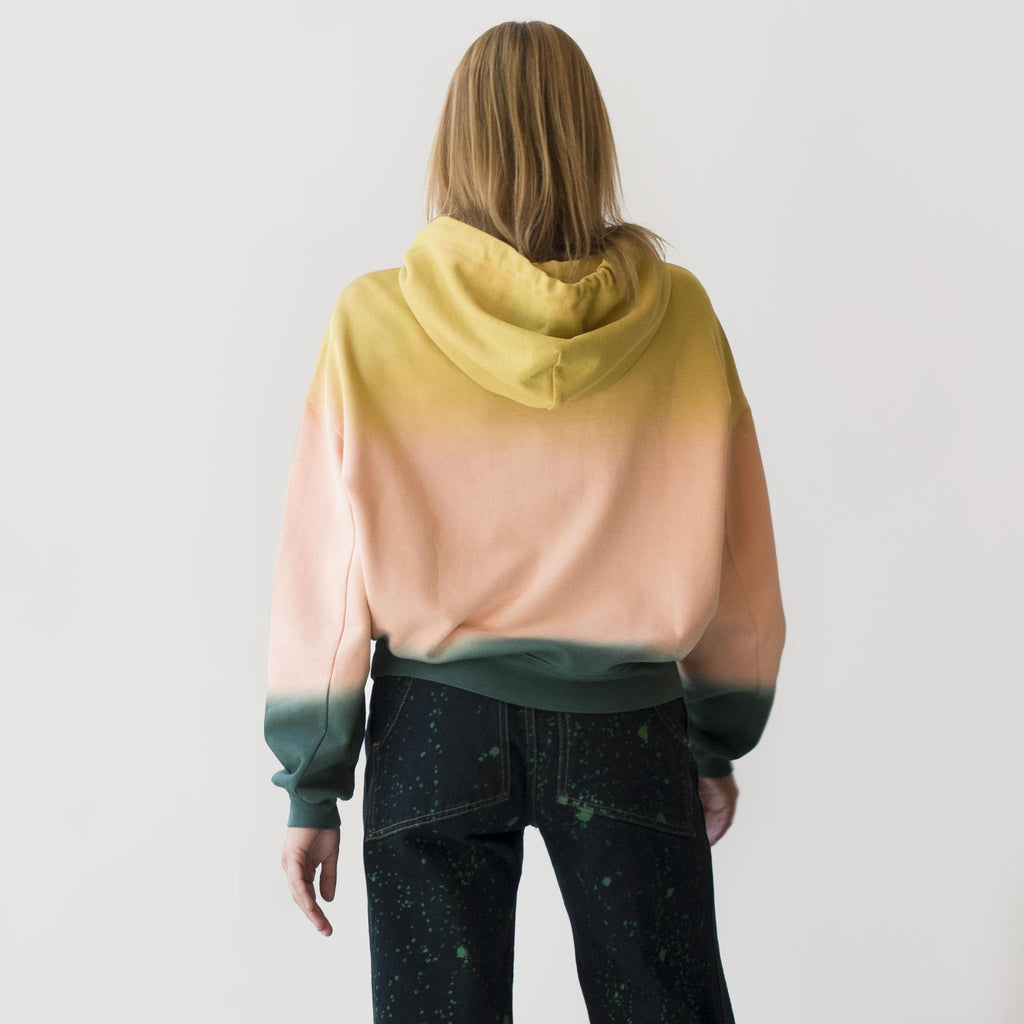 Eckhaus Latta - Hoodie - Sunset, back view, available at LCD.