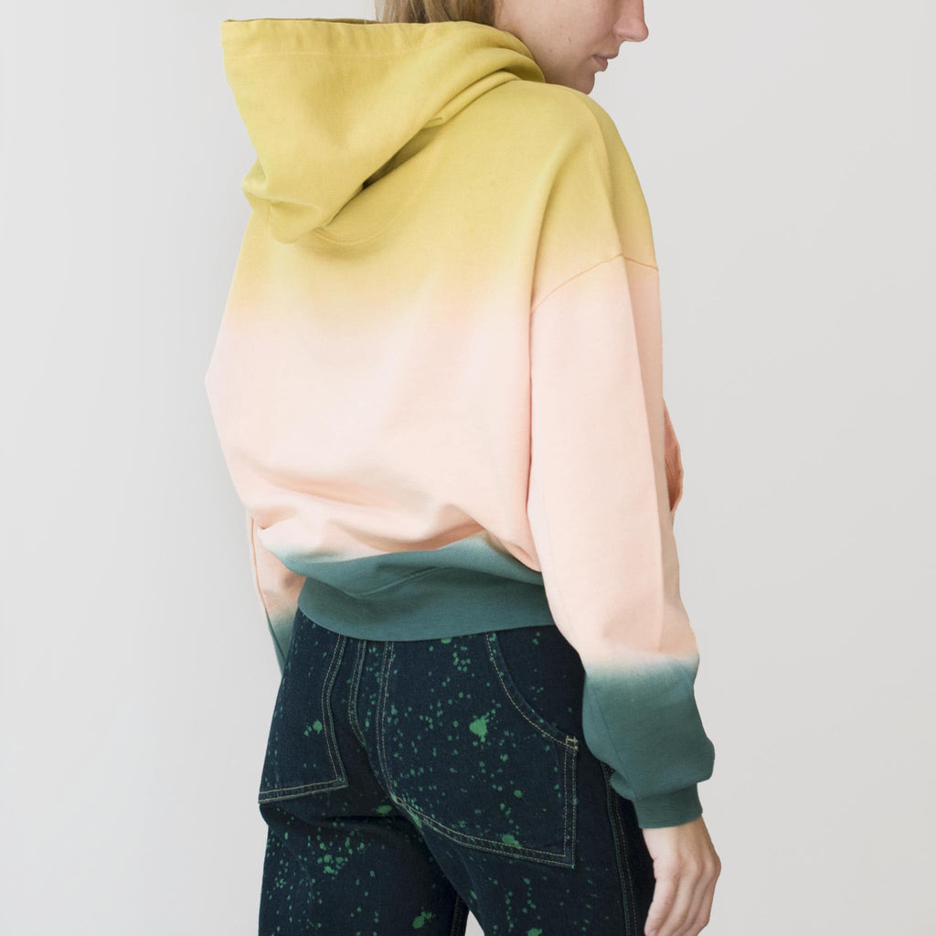 Eckhaus Latta - Hoodie - Sunset, side view, available at LCD.