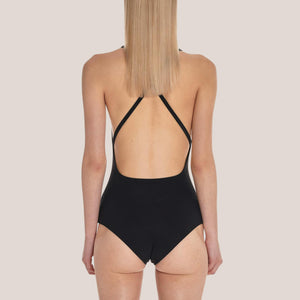 1017 Alyx 9SM - Susyn Swimsuit in Black, back view, available at LCD.