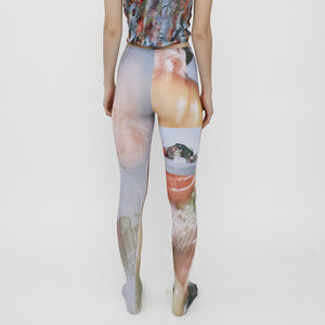 Collina Strada - Photo Tights - Sistine Tomato, back view, available at LCD.
