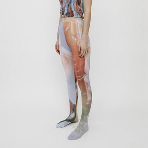 Collina Strada - Photo Tights - Sistine Tomato, front angled view, available at LCD.