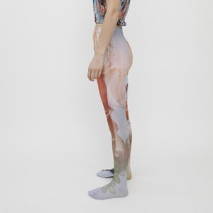 Collina Strada - Photo Tights - Sistine Tomato, side view, available at LCD.