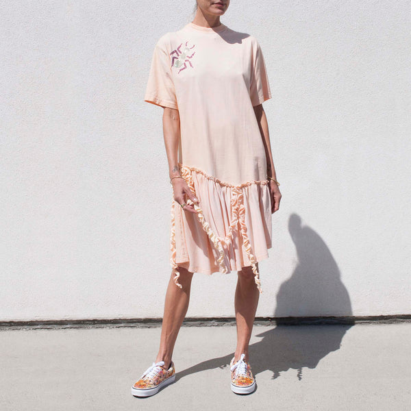Collina Strada - T Shirt Dress - Golden, available at LCD.
