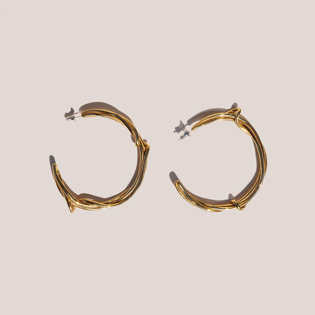 Faris - Large Tangle Hoops, available at LCD.