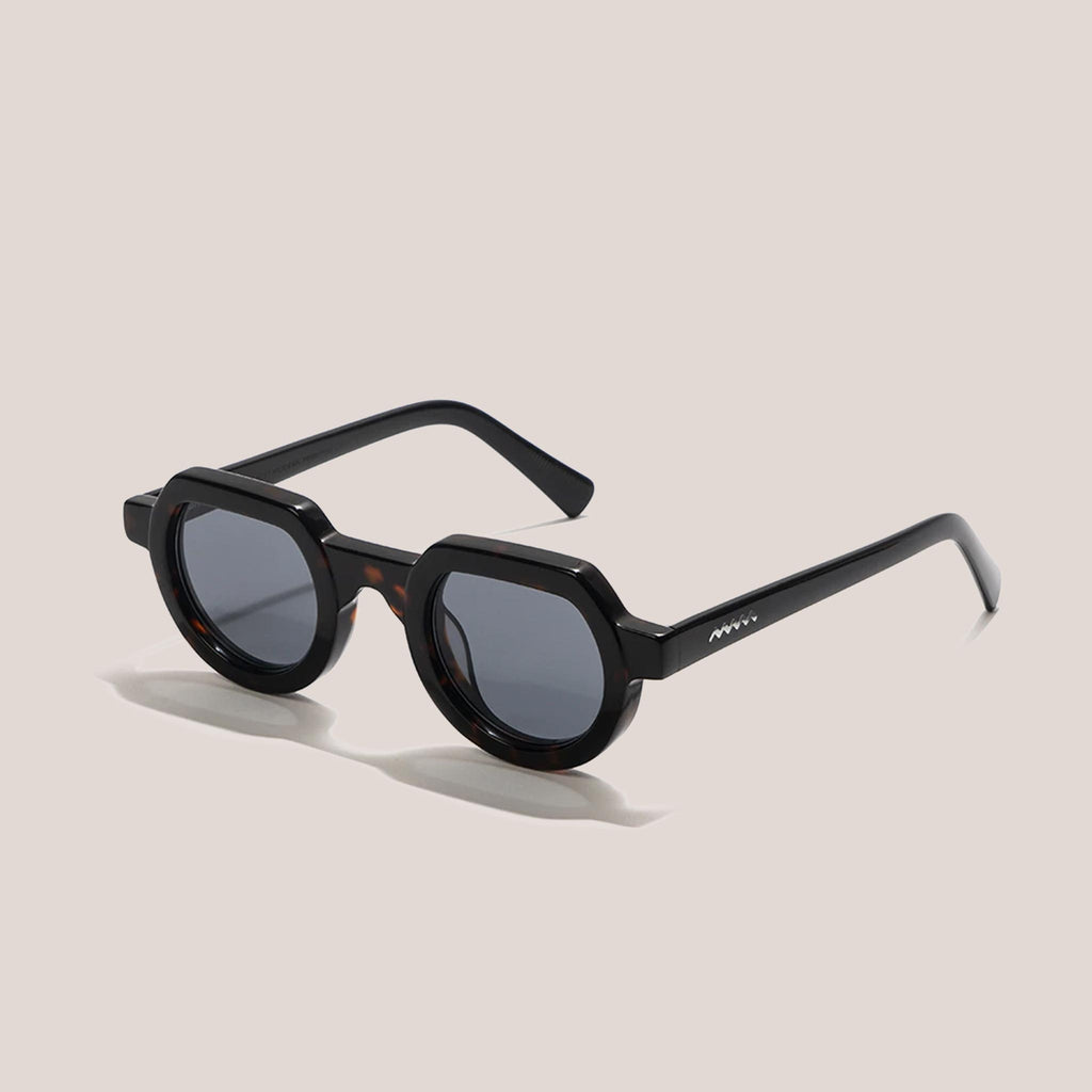 Braindead - Tani Sunglasses - Black Tortoise, angled view, available at LCD.