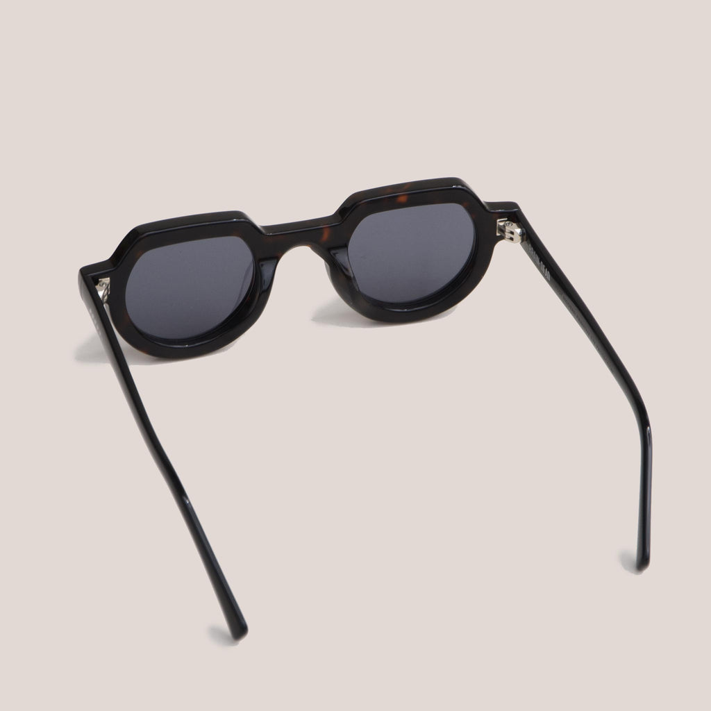 Braindead - Tani Sunglasses - Black Tortoise, back view, available at LCD.