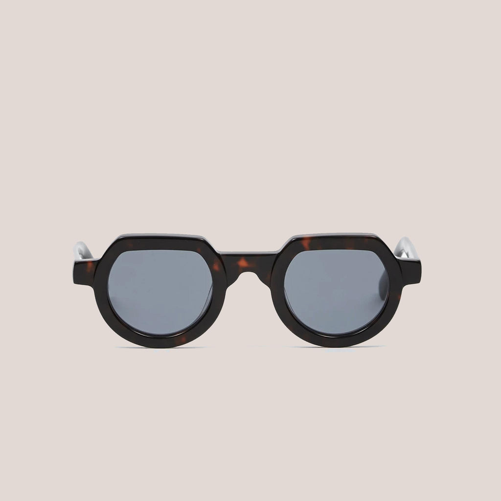 Braindead - Tani Sunglasses - Black Tortoise, front view, available at LCD.