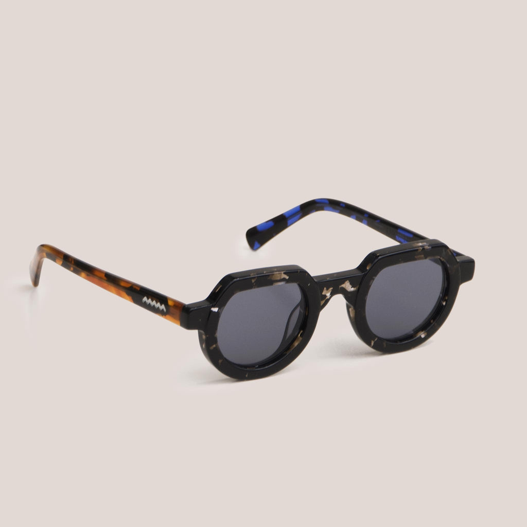 Braindead - Tani Sunglasses - Tri Tortoise, angled view, available at LCD.