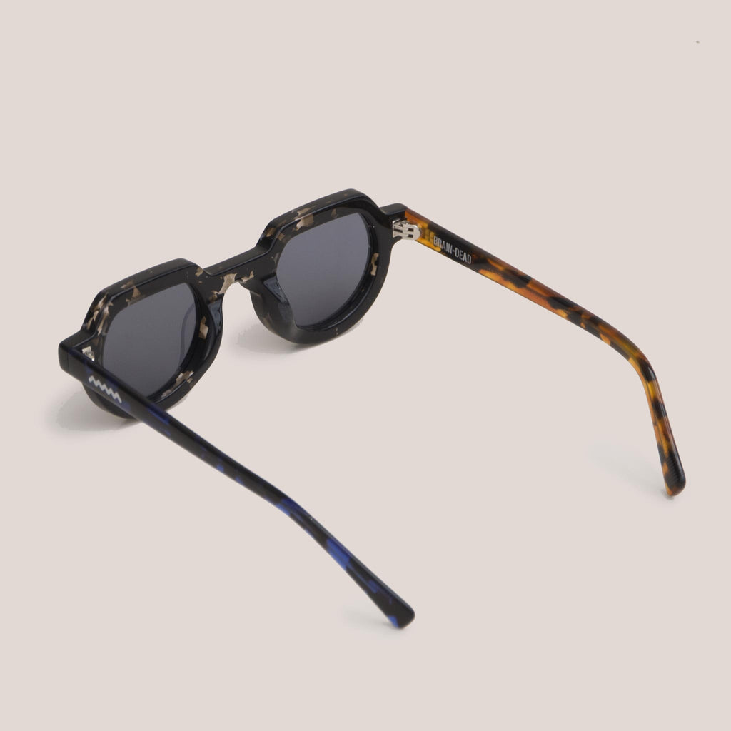 Braindead - Tani Sunglasses - Tri Tortoise, back view, available at LCD.