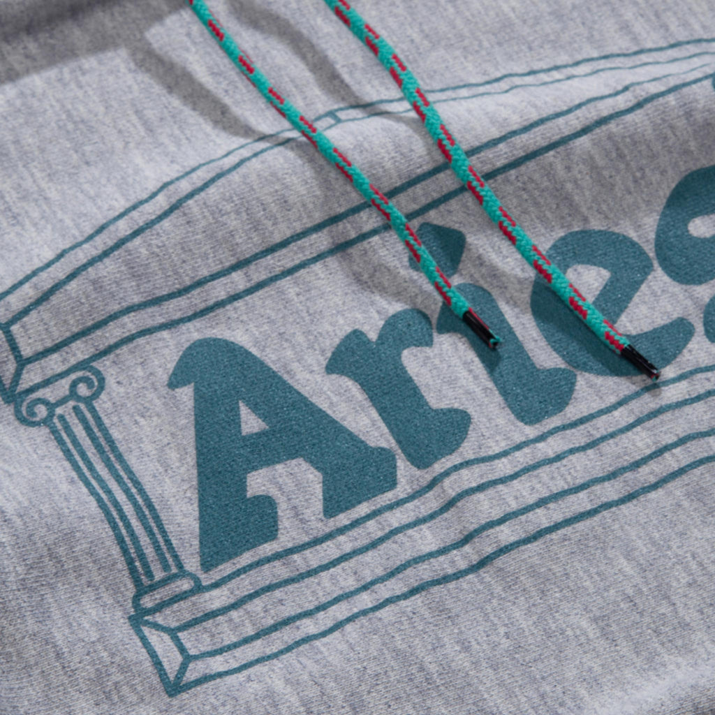 Aries - Temple Hoodie, front detail, available at LCD.