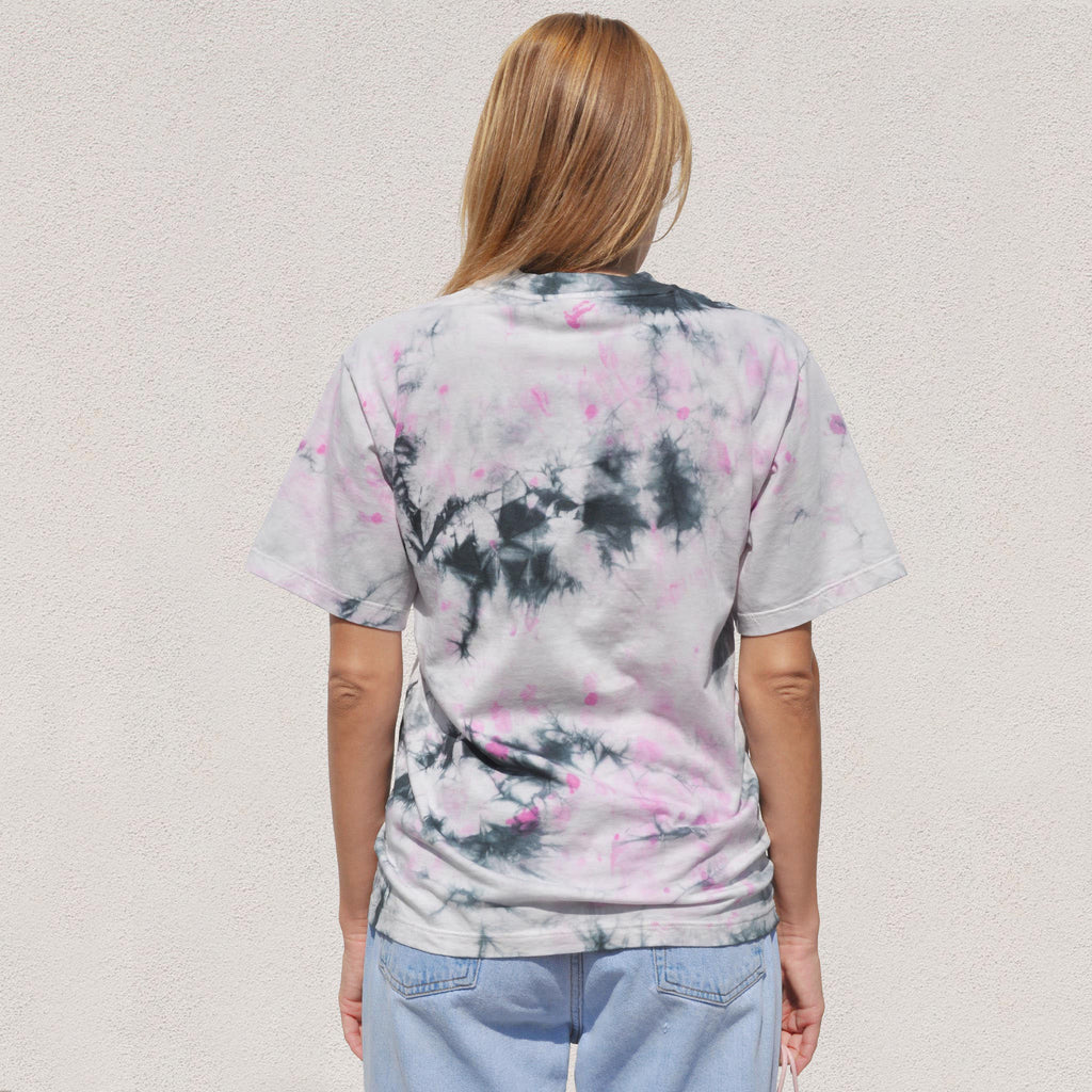 Aries - Temple SS Tie Dye Tee - Purple, back view, available at LCD.